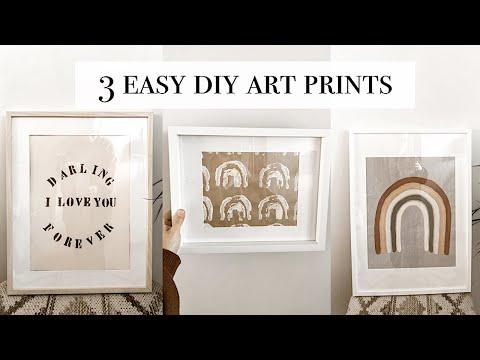 Three Easy DIY Art Prints