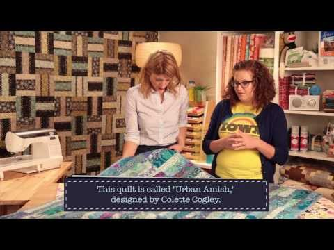 Meet A Modern Quilter: Heather Kinion with a trunk show of her modern quilts