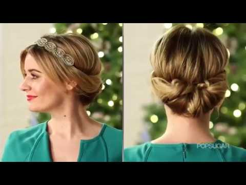 3 Easy Holiday Hairstyles In 5 Minutes Or Less Makeup And Beauty
