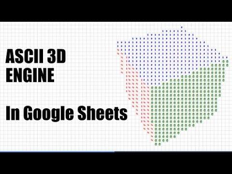 3D ASCII In Google Sheets