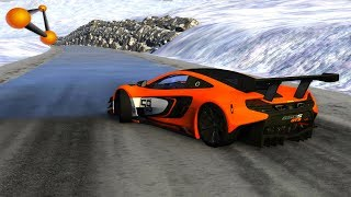 BeamNG.drive - Cars Driving On Icy Roads #3