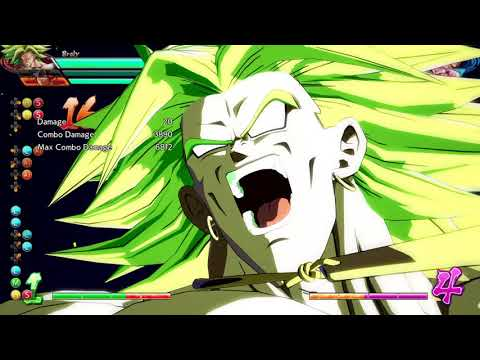 Broly Midscreen Faceplant Combo into Slow Level 3 with Cell Assist