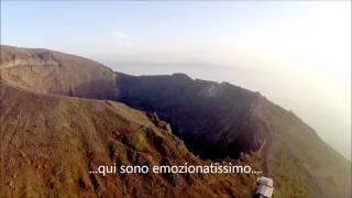 Vesuvio cratere Torre del Greco vista aerea con drone Phantom 2 FPV
