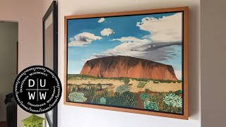 How to make a floating frame for a canvas painting or print