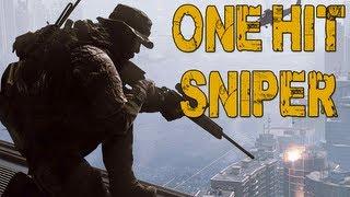 ONE HIT SNIPER RIFLE - Battlefield 4 Beta Gameplay w/ Friends - #2