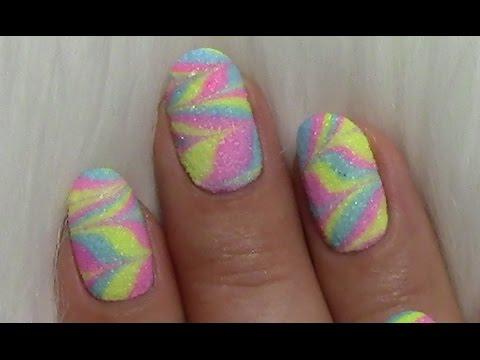 water marble n gel mit sand effekt sommer nageldesign bunt colorful summer nails youtube. Black Bedroom Furniture Sets. Home Design Ideas