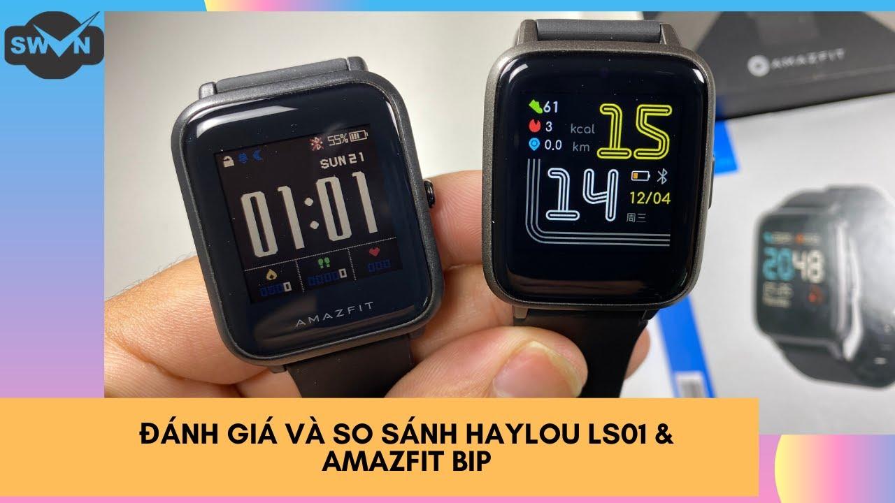 So sánh đánh giá Haylou LS01 và Huami Amazfit BIP | SmartWatch phân khúc 500k