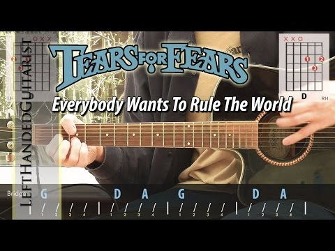 Tears For Fears - Everybody Wants To Rule The World   acoustic guitar lesson