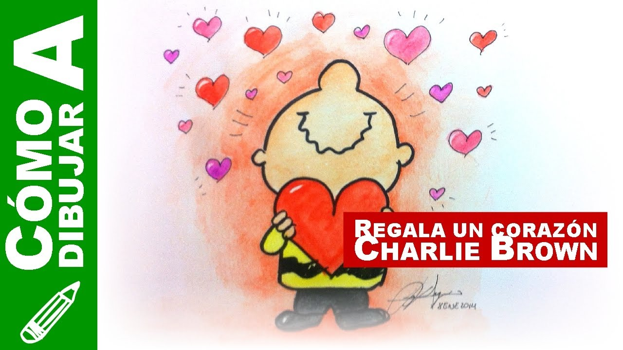 022. Cómo dibujar a Charlie Brown regalando un corazón   Especial de ...