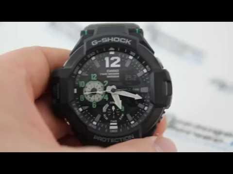 Casio G-Shock GA-1100-1A3 [GA-1100-1A3ER] - Инструкция по настройке от Presidentwatches.Ru