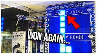 Game | I Can t Stop Winning The Major Prize From STACKER!... Arcade Games | I Can t Stop Winning The Major Prize From STACKER!... Arcade Games