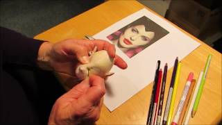 Needlesculpting a Face  - Malificent