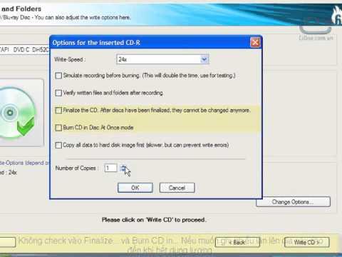 Sử dụng phần mềm Ashampoo Burning Studio Free để ghi đĩa CD/DVD-Phần 2