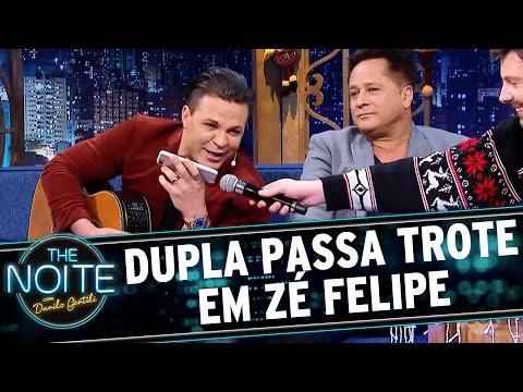 Eduardo Costa e Leonardo dão trote em Zé Felipe  The Noite 151216
