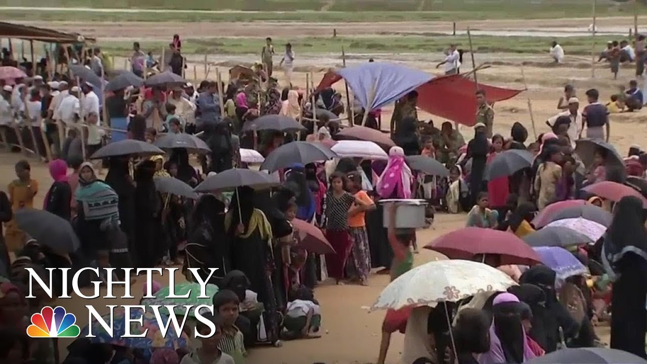 Rohingya Muslim Refugees Flee Ethnic Cleansing In Myanmar | NBC Nightly News