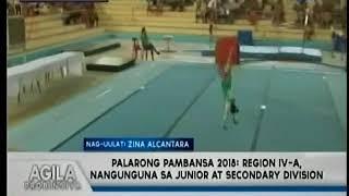 Palarong Pambansa 2018   Region IV A, nangunguna sa Junior at Secondary Division