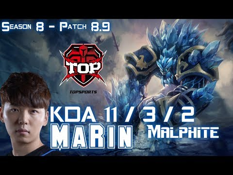 TOP MaRin MALPHITE vs JAX Top - Patch 8.9 KR Ranked