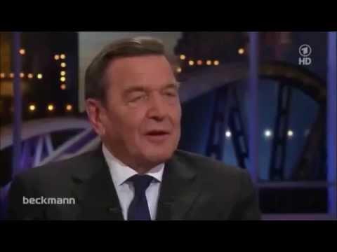 Beckmann verbietet Schröder mit Russland befreundet zu sein, doch Altkanzler leistet Widerstand