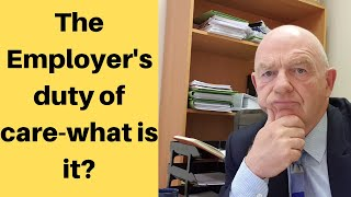 What exactly is the employer's duty of care? does it involve him sending you flowers or cards when are sick? asking how doing?, legal care involves a standard which can vary ...