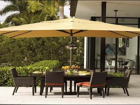 Patio Furniture With Umbrella Youtube