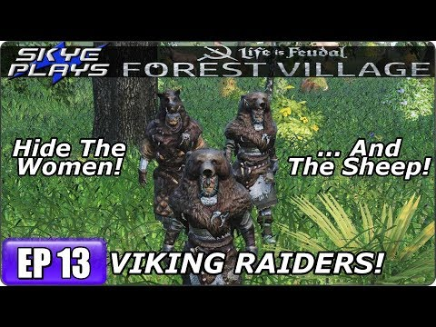 Life Is Feudal Forest Village - Building A Huge City & Castle Ep 13 - VIKING RAIDERS!