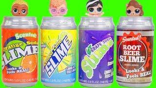Soda Slime Can Surprises with LOL Surprise Dolls Rainbow Unicorn Custom Bedroom