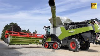 2020 CLAAS 7400 TT Lexion Combine in Wisconsin Wheat - Видео на