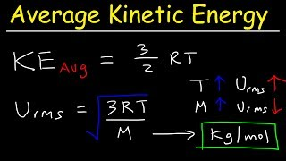 Average Kinetic Energy of a Gas and Root Mean Square Velocity Practice Problems - Chemistry Gas Laws
