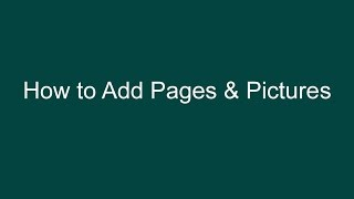 Adding Pages and Pictures to WordPress - Revised April, 2015