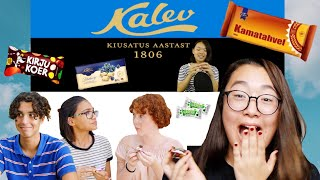 CANADIANS TASTE TESTING ESTONIAN SWEETS