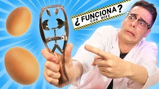 PRUEBO 7 INVENTOS EXTRAÑOS para ROMPER HUEVOS ¿Funciona con Mike?