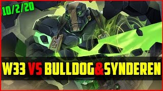 W33 #1 World Earth Spirit Vs Bulldog & Synderen | Dota 2 Ranked Gameplay