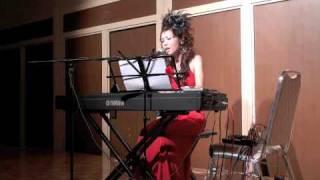 "Saja Rosa performing a cover of ""Downtown"" by Petula Clark at FUKUO..."