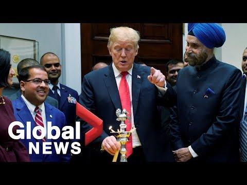 President Trump celebrates
