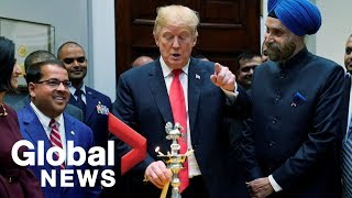 President Trump celebrates Diwali, the Hindu Festival of Lights, at White House