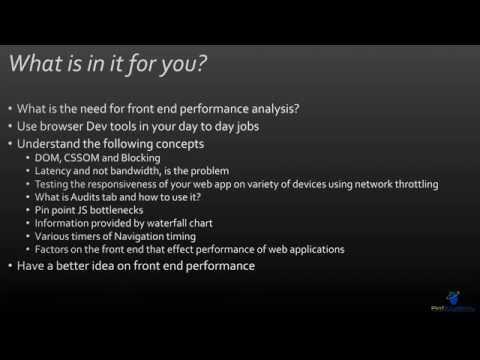 Using Chrome Developer Tools to Analyze Web Performance