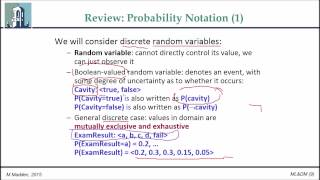 CT475 Topic 7 Part 1: Review of Probability Basics