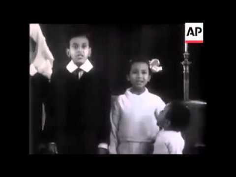 Ethiopian Kids Singing the National Anthem in the 1940s