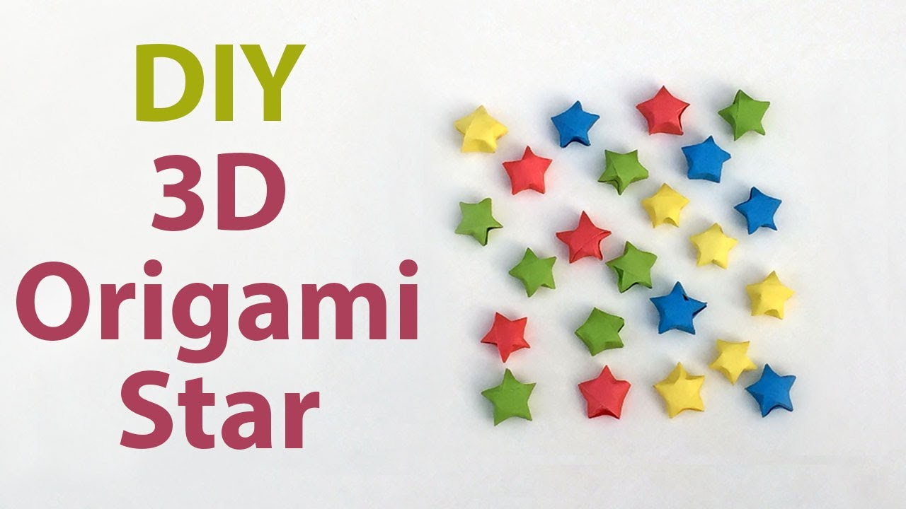 Easy 3D Origami STAR For Beginners