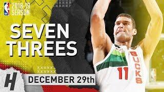 Brook Lopez DESTROYS Nets with 7 Threes - Nets vs Bucks | December 29, 2018 | 2018-19 NBA Season