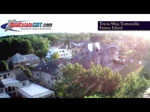 From Above: Luxury Homes on Tricia Way in Tottenville, Staten Island