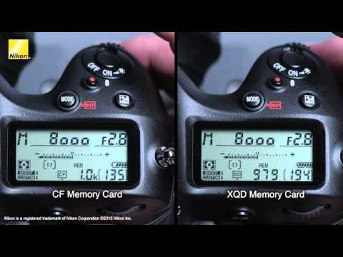 Nikon D4S: XQD Memory Card Speed Performance Test