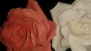 Как изготовить розы из сахарной мастики