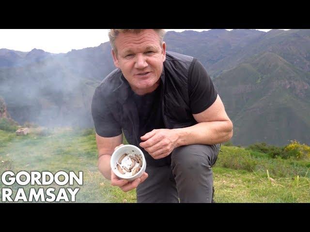 Gordon Ramsay Makes Scrambled Eggs With Worms In Peru   Scrambled