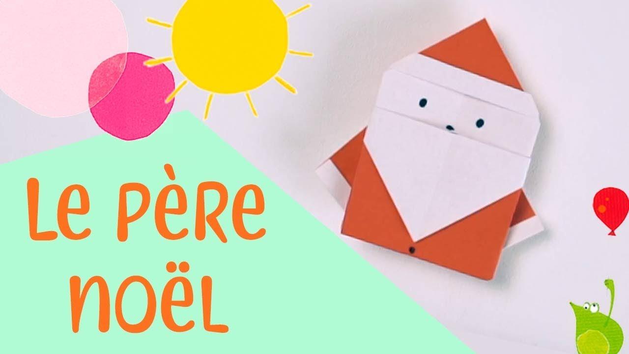 Les Petits Pliages De Suzanne Le Pere Noel Origami Facile Pour Enfants Youtube