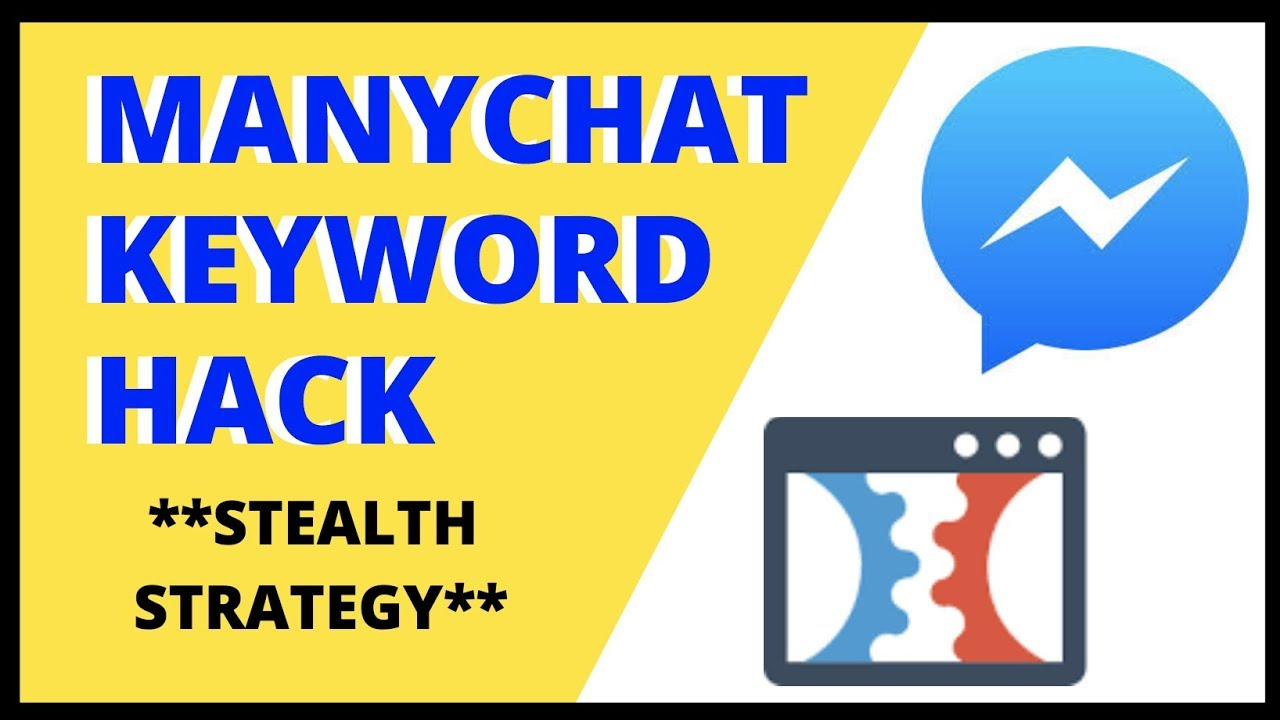 MANYCHAT Keyword Tool HACK | How To Use Facebook Messenger Bots