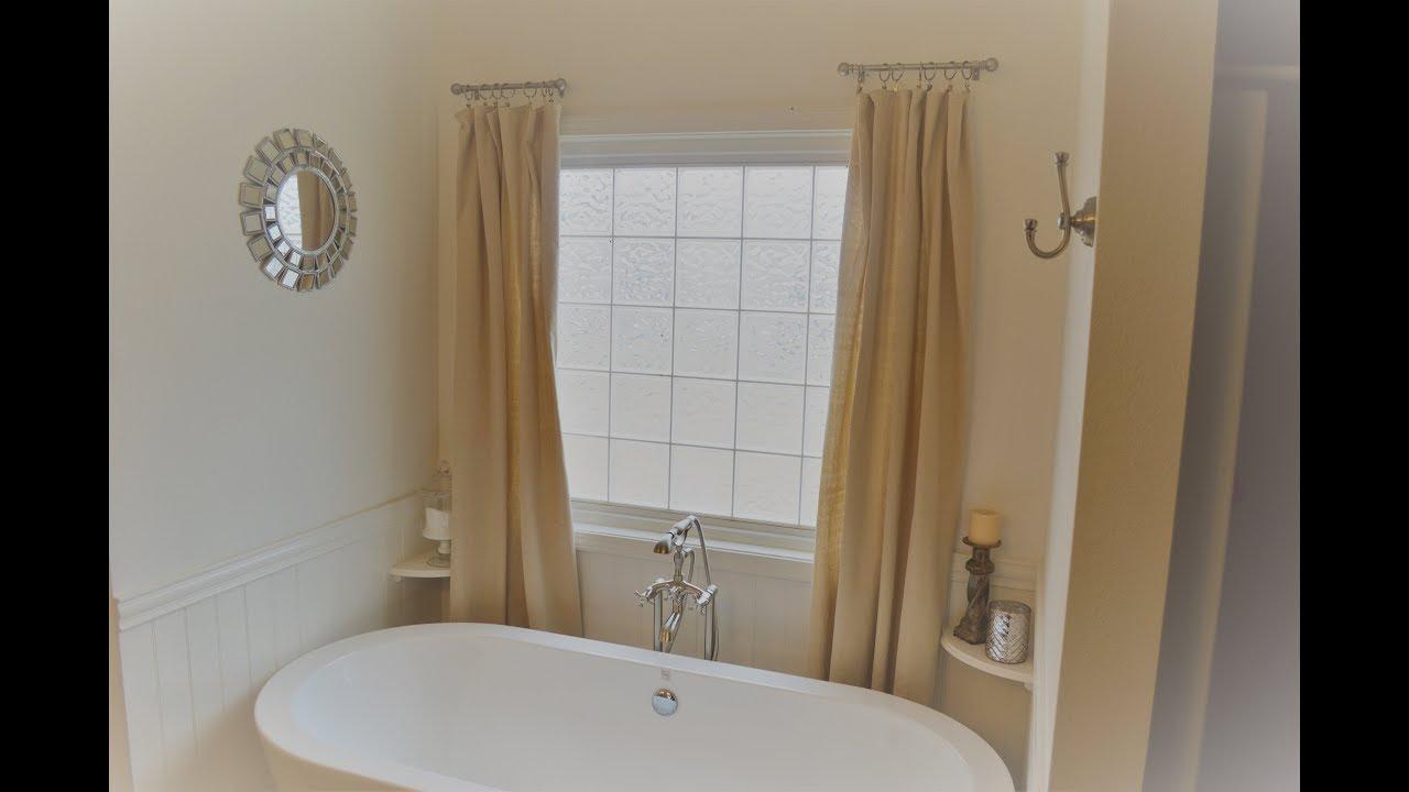 DIY No Sew Farmhouse Dropcloth Curtains