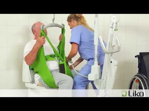 Hill-Rom | Liko® Lifts & Slings | Transfer From Chair To Toilet