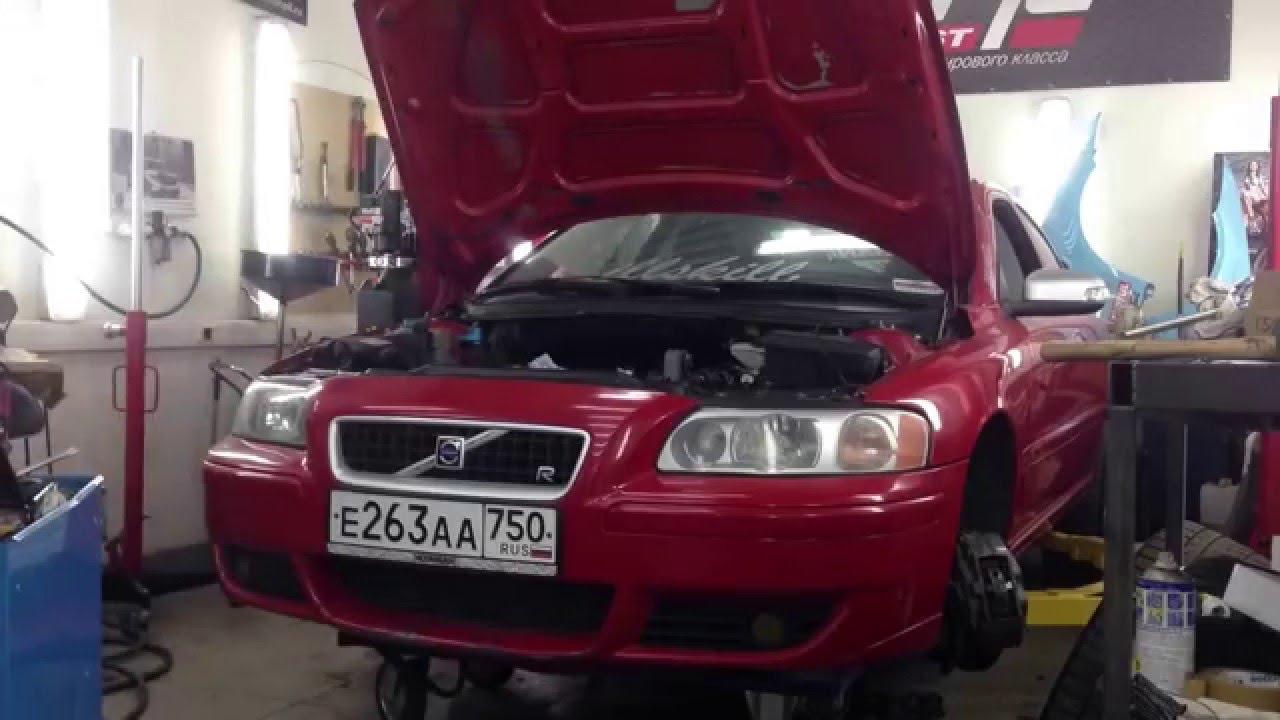 Volvo s60r Engine Remove  TimeLapse!