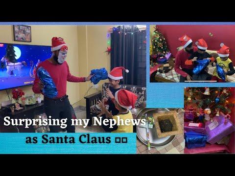 Surprising my nephews for Christmas as Santa 🎅🏼| An Awesome SaamOnion Celebration | Xmas Family Vlog